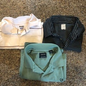Other - Lot of 3 men's golf shirts. Size M. Short sleeve
